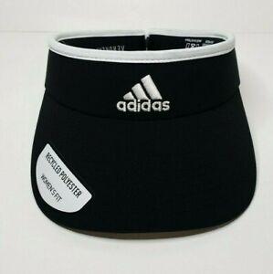 adidas Women's Adizero II Visor, Black/White, One Size (Adjustable) tennis, golf