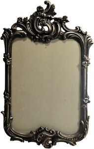 Antique ornate silver bath frame in Victorian style signed Brevetes S.G.C.G