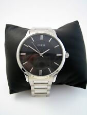 GUESS MENS ESCROW WATCH W0990G1 STAINLESS STEEL BRACELET BLACK DIAL GENUINE