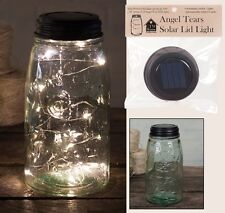 "Beautiful Angel Tears LED 46"" 12 Light String Solar Lid for Regular Mason Jar"