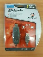 Targus USB 2.0 File Transfer Cable. Laptop/PC to PC. (Retail).