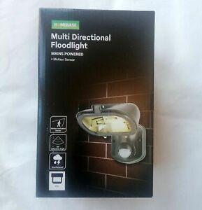 Multi Directional 120w Halogen Floodlight Motion Sensor Light Powered Outdoor