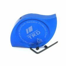 JDM CNC Aluminum TRD Car Radiator Protection Cap Cover BLUE For camry, corolla