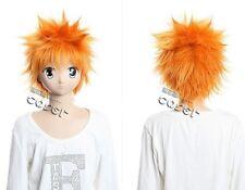 W-138 Bleach Kurosaki Ichigo 33cm Cosplay Parrucca Wig Orange calore FISSO CORTO