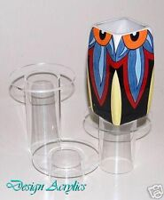 3 CLEAR ACRYLIC ROUND PEDESTAL TUBE RISERS STANDS