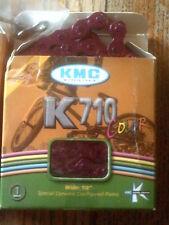 """KMC K710 COLOR CHAIN, BMX 1/8"""" PURPLE  CHAIN , TRACK"""