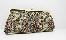 Vintage 1960's JR Tapestry Victorian Couple Clutch Bag Purse