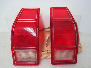 Mopar NOS 1976-80 Dodge Aspen Station Wagon LH & RH Taillight Lenses 3881128-9