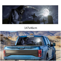 Grim Reaper cemetery Rear Window Graphic Tint Decal Sticker For Truck Suv Car