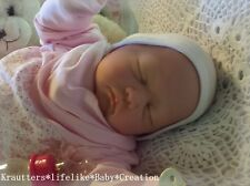 ♥Reborn Reallife Baby Girl BS v. U.L Krautter Babypuppe Künstlerpuppe♥