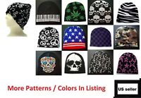 Beanie Plain Knit Ski Cap Hat Skull Warm Winter Colors Unisex Men Woman Beany