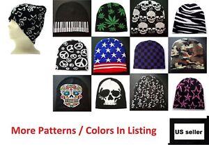 Beanie Plain Knit Ski Cap Hat Skull Warm Winter Colors Unisex Men Woman Beany