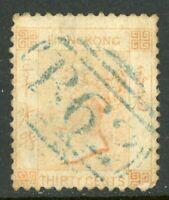 China 1863 Hong Kong 30¢ Watermark CCC QV SG #15 VFU C493 ⭐⭐⭐⭐⭐⭐