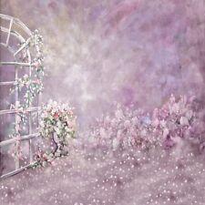 10x10ft Vinyl Studio Wedding Backdrop Purple Petals Paint Background Photography