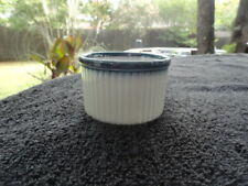 Wedgwood Blue Pacific Off White Speckled Ribbed Ramekin