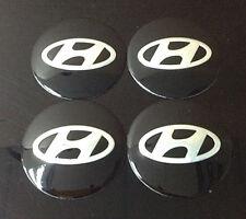 Wheel 56mm Center Cap Sticker Set 4pcs Hyundai