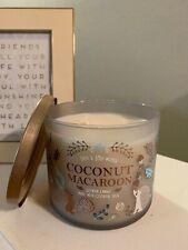 Bath & Body Works: 14.5 Oz 3-Wick Candle: Coconut Macaroon