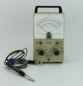 Heathkit VTVM Vintage Vacuum Tube Volt Meter Model IM-18 Series 942-3687 w/Probe
