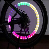 2stk LED Bunt Fahrrad-Rad-Leuchten Automatischer Wechsel Farbe Rad Licht U6 B6X1