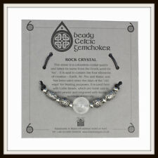 ROCK CRYSTAL & CELTIC BEADS BEADY CHOKER ~ FROM BLACK DRAGON ~ MADE IN THE UK