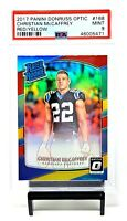 2017 Optic RED YELLOW REFRACTOR Panthers CHRISTIAN McCAFFREY RC Card PSA 9 MINT