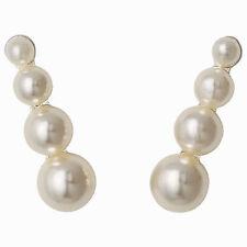Versilberter Mode-Ohrschmuck mit Perlen (Imitation) für Damen