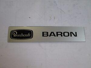 Beechcraft Baron Name Plate P/N H4224 New