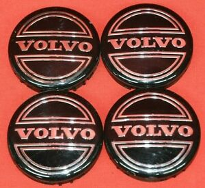 Set of 4 OEM Volvo Silver Center Hub Caps S60 V70 XC70 S80 XC90 C70 S40 V50 C30