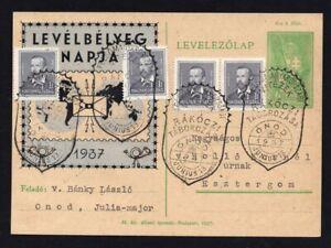 Hungary 1937 postcard, FDS