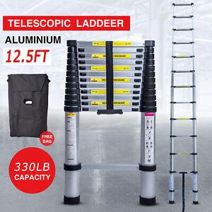 12.5FT Step Ladder ExtensionTelescoping Light weight Portable Folding Telescopic