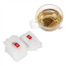 100Pcs New Nylon Empty Tea Infuser Herb Spice Filter Strainer Bags With String