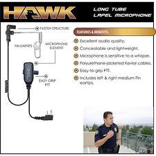 HAWK QR Police Lapel Mic Headset for ICOM F43GS F43GT F43TR F11 F11S F21 F31