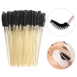50x Disposable Eye Wands Eyelash Brushes Applicator Makeup Tool Lash Brush