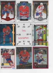 Montreal Canadiens * SERIAL #'d Rookies Autos Jerseys * ALL CARDS ARE GOOD CARDS