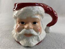 "Longaberger 3D Santa Face Mug 3.75"" Tall Pottery"
