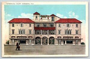 Sarasota Florida~Commercial Court~Mediterrean Revival Architecture~1920s