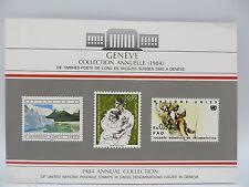 United Nations UN Souvenir Stamp Folder - 1984, Geneva, MNH Scott 121-128