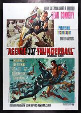 THUNDERBALL * CineMasterpieces ORIGINAL JAMES BOND 007 ITALIAN MOVIE POSTER 1980