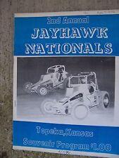 1978 Jayhawk National Auto Racing Souvenir Program Topeks Kansas Sprint Car  U