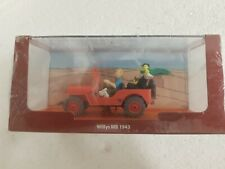 HW DIE CAST WILLY'S JEEP TIN TIN ON THE MOON WITH BOX SEALED