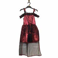 NEW 7-8 Years Halloween Costume Dress Red & Black Girls Kids Vampire Goth Bride