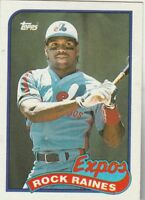 FREE SHIPPING-MINT-1989 TOPPS  #560 ROCK RAINES EXPOS-2