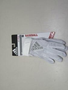 adidas Adizero 4.0 Adult Baseball Batting Gloves (AB0220) WHITE SMALL