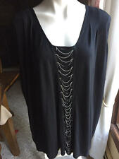 Women's Rock & Republic sleeveless black top blouse size 3X