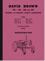 David Brown 990 950 880 850 Bedienungsanleitung Betriebsanleitung Handbuch Deut.