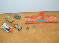 Vintage MICRO MACHINES TANK SPACE SHUTTLE DRIVERS LICENSE Lot Galoob 1990s 1980s