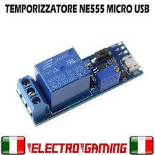 Temporizzatore RELAY NE555 Micro Usb 5V 6,5V TIMER REGOLABILE RELE' - BE37