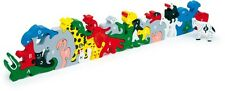 Alphabet Letter and Number Animal Block Wooden Jigsaw Puzzle