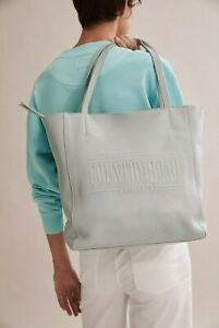 NWT COUNTRY ROAD Sold Out HERITAGE Genuine LEATHER Large Shopper TOTE BAG Grey