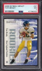 2000 Tom Brady Skybox Impact Football Rookie Card #27 Graded PSA 7 Near Mint